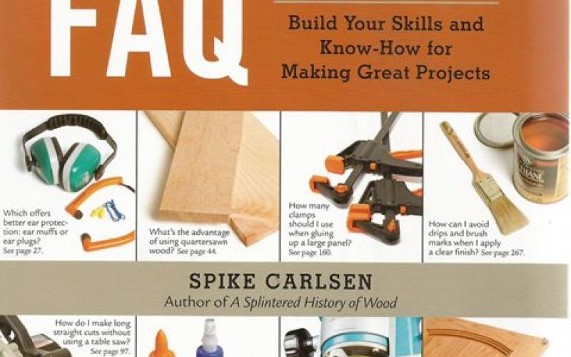 Front cover of Woodworking FAQ by Spike Carlsen