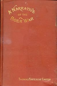 image of A Narrative of the Boer War by Carter, Thomas Fortescue