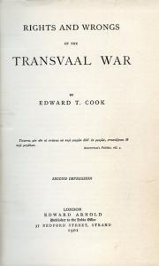 image of Rights and Wrongs of the Transvaal War  by Cook, Edward T.