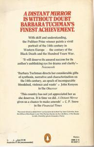 Back Cover of A Distant Mirror by Barbara W Tuchman
