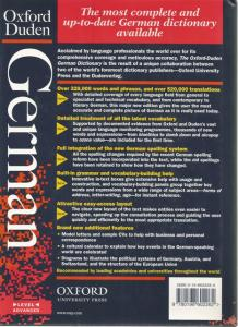 Back Cover of The Oxford-Duden German Dictionary by Oxford Dictionaries