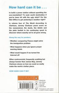 Back cover of How Hard Can It Be? by Jeremy Clarkson