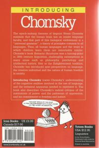 Back Cover of Introducing: Chomsky by John Maher and Judy Groves