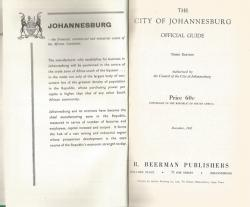 Title page of The City of Johannesburg Official Guide