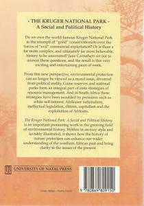 Back Cover of The Kruger National Park by Jane Carruthers