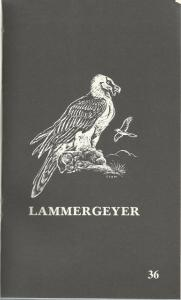 Title page of The Lammergeyer: The Journal of the Natal Parks, Game and Fish Preservation Board 1986-1993 edited by DN Johnson