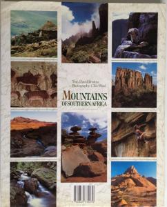 Back Cover of Mountains of South Africa by David Bristow