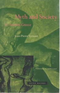 Front Cover of Myth and Society in Ancient Greece by Jean-Pierre Vernant