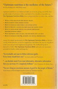Back cover of The Optimum Nutrition Bible by Patrick Holford
