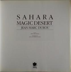 Title page of Sahara by Theodore Monod and Jean-Marc Durou
