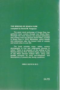Back Cover of The Wrecks of Scapa Flow by David M Ferguson