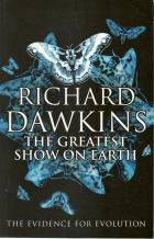 Front cover of The Greatest Show on Earth by Richard Dawkins
