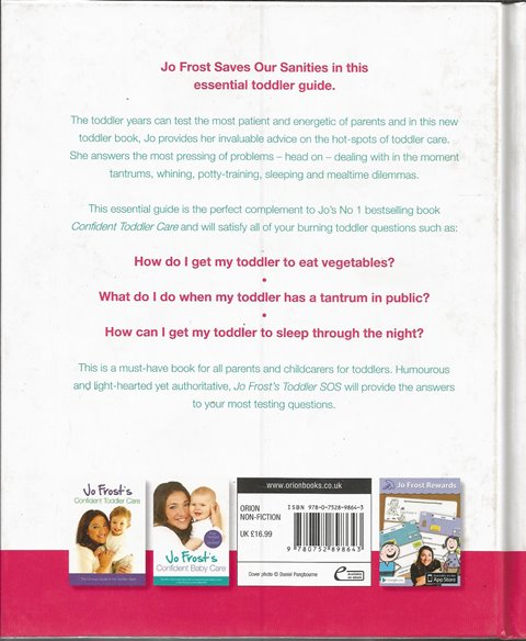 Back cover of Toddler SOS by Jo Frost