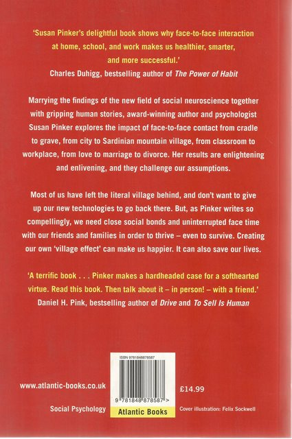 Back cover of The Village Effect by Susan Pinker