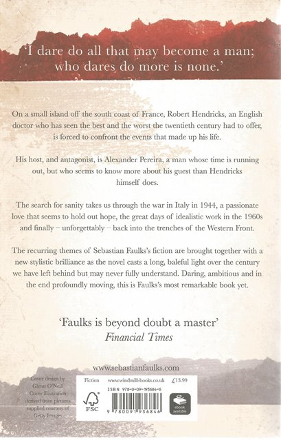 Back Cover of Where My Heart Used to Beat by Sebastian Faulks
