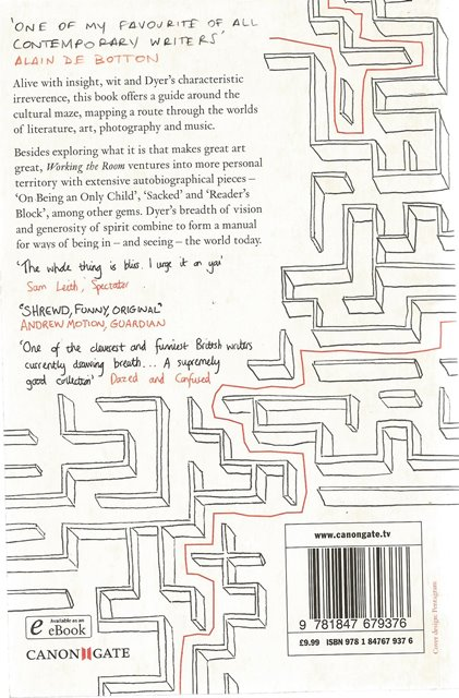 Back cover of Working the Room by Geoff Dyer