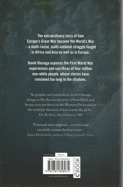 Back cover of The World's War by David Olusoga