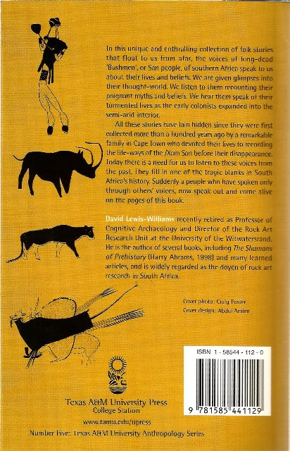 Back cover of Stories that Float from Afar by J. D. Lewis-Williams
