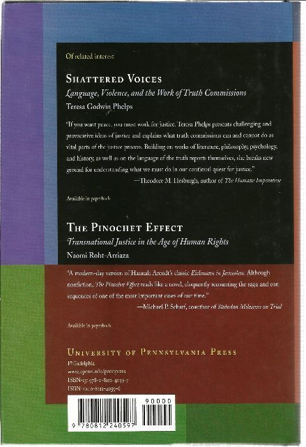 Back Cover of Truth and Reconciliation in South Africa by Audrey R. Chapman & Hugo van der Merwe