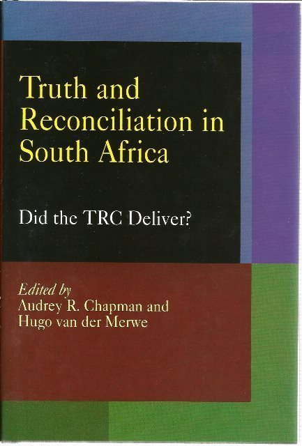 Front Cover of Truth and Reconciliation in South Africa by Audrey R. Chapman & Hugo van der Merwe
