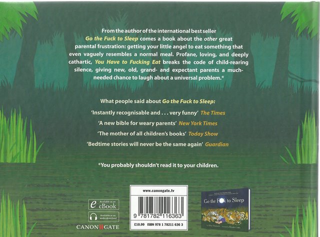 Back Cover of You Have to Fucking Eat by Adam Mansbach