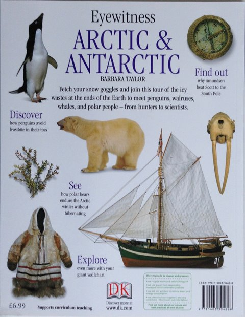 Back cover of Arctic and Antarctic by Barbara Taylor