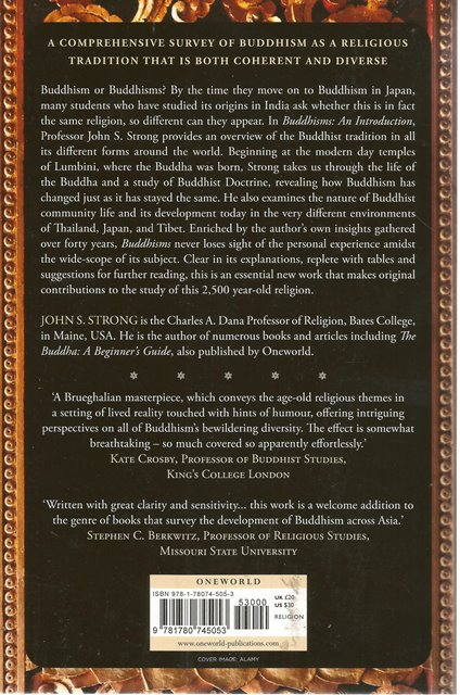 Back Cover of Buddhisms by John S Strong