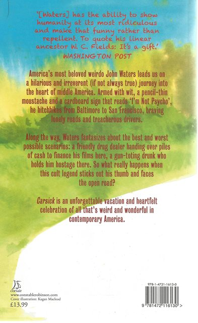 Back cover of Carsick by John Waters