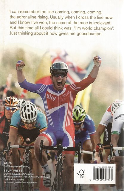 Back cover of At Speed by Mark Cavendish