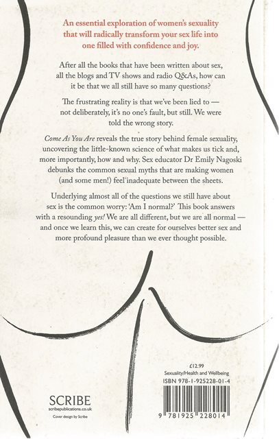 Back cover of Come as You Are by Emily Nagoski