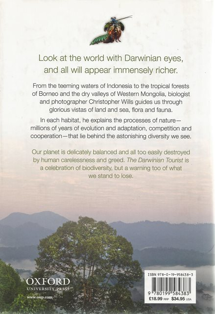 Back cover of The Darwinian Tourist by Christopher Wills