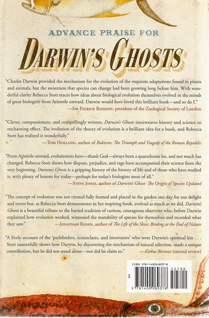 Back cover of Darwin's Ghosts by Rebecca Stott