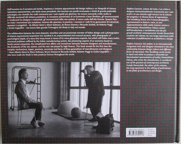 Back cover of Design in Italia by Stefano Casciani