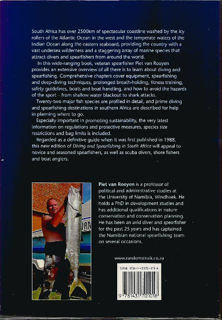 Back cover of Diving and Spearfishing in SA by Piet van Rooyen