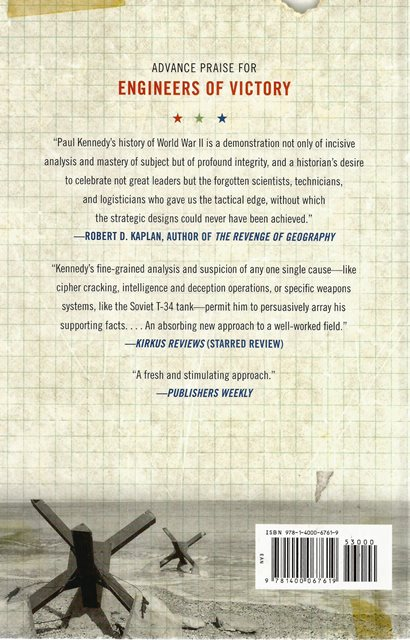 Back cover of Engineers of Victory by Paul Kennedy