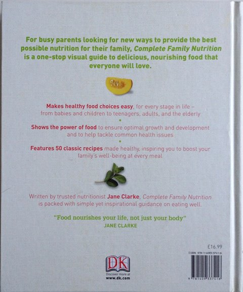Back cover of Complete Family Nutrition by Jane Clarke