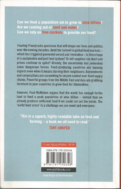 Back cover of Feeding Frenzy by Paul McMahon