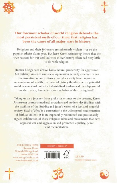 Back cover of Fields of Blood by Karen Armstrong