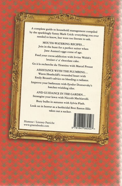 Back cover of The Household Tips of the Great Writers by Mark Crick