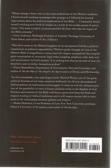Back cover of In God's Shadow by Michael Walzer