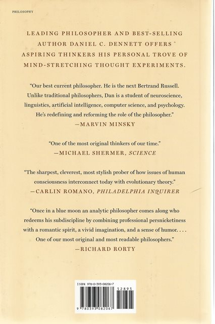 Back cover of Intuition Pumps and Other Tools for Thinking by Daniel C Dennett