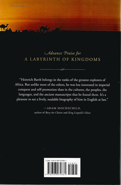Back cover of A Labyrinth of Kingdoms by Steve Kemper