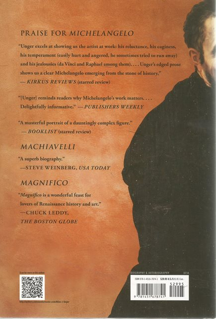 Back cover of Michelangelo by Miles J Unger
