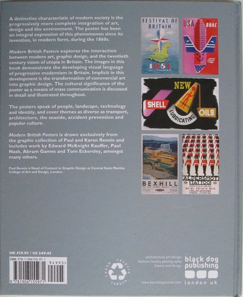 Back cover of Modern British Posters by Paul Rennie
