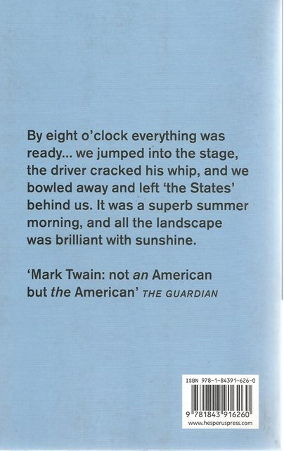 Back cover of On the Wild West by Mark Twain