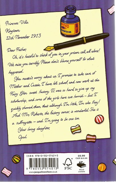 Back cover of Opal Plumstead by Jacqueline Wilson