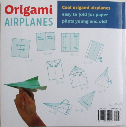 Back cover of Origami Airplanes by Paul Jackson and Miri Golan