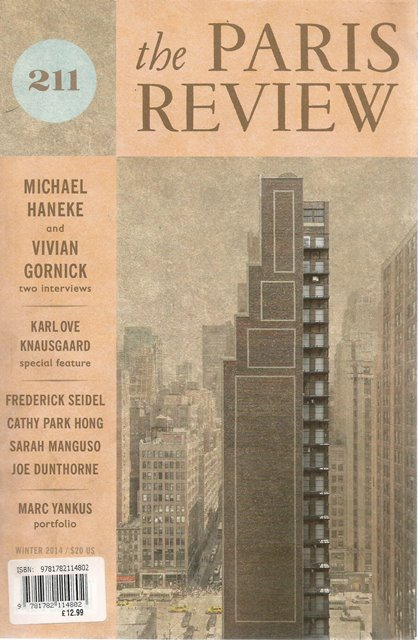 Front cover of The Paris Review 211 edited by Lorin Stein