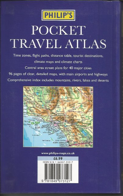 Back cover of Pocket Travel Atlas by Phillip's