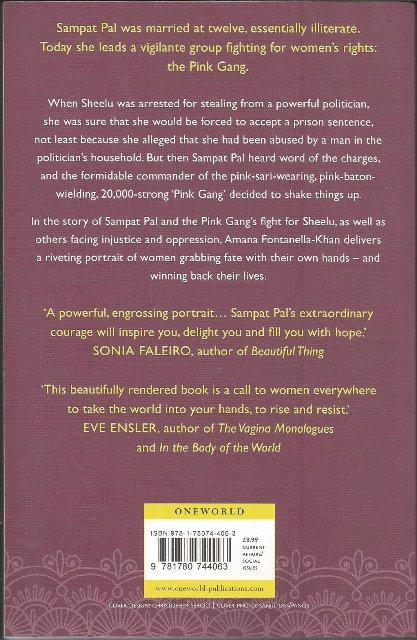 Back cover of Pink Sari Revolution by Amana Fontanella-Khan